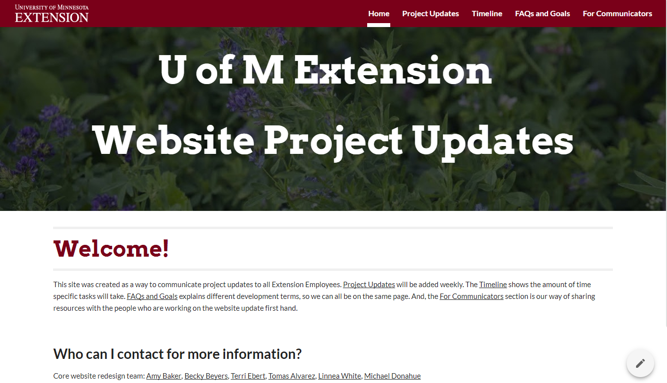 heres the new google site for extensions big web re design project