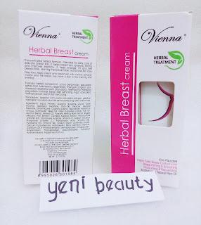 Kemasan terbaru Vienna Breast Cream