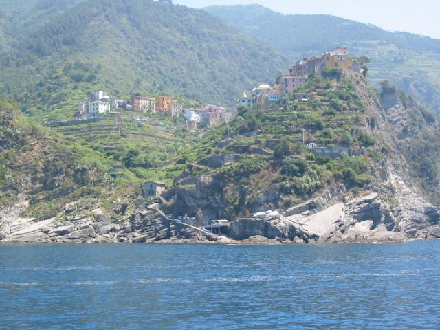 Cinque Terre - Blick vom Wasser aus