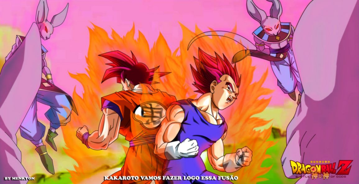 Dragon Ball Z Goku And Vegeta Super Saiyan God Background