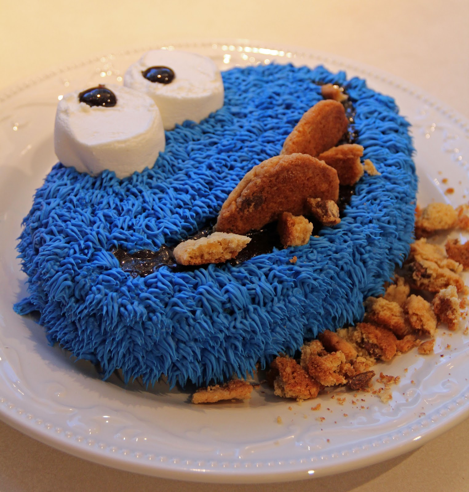 Cookie Monster Cake Icing