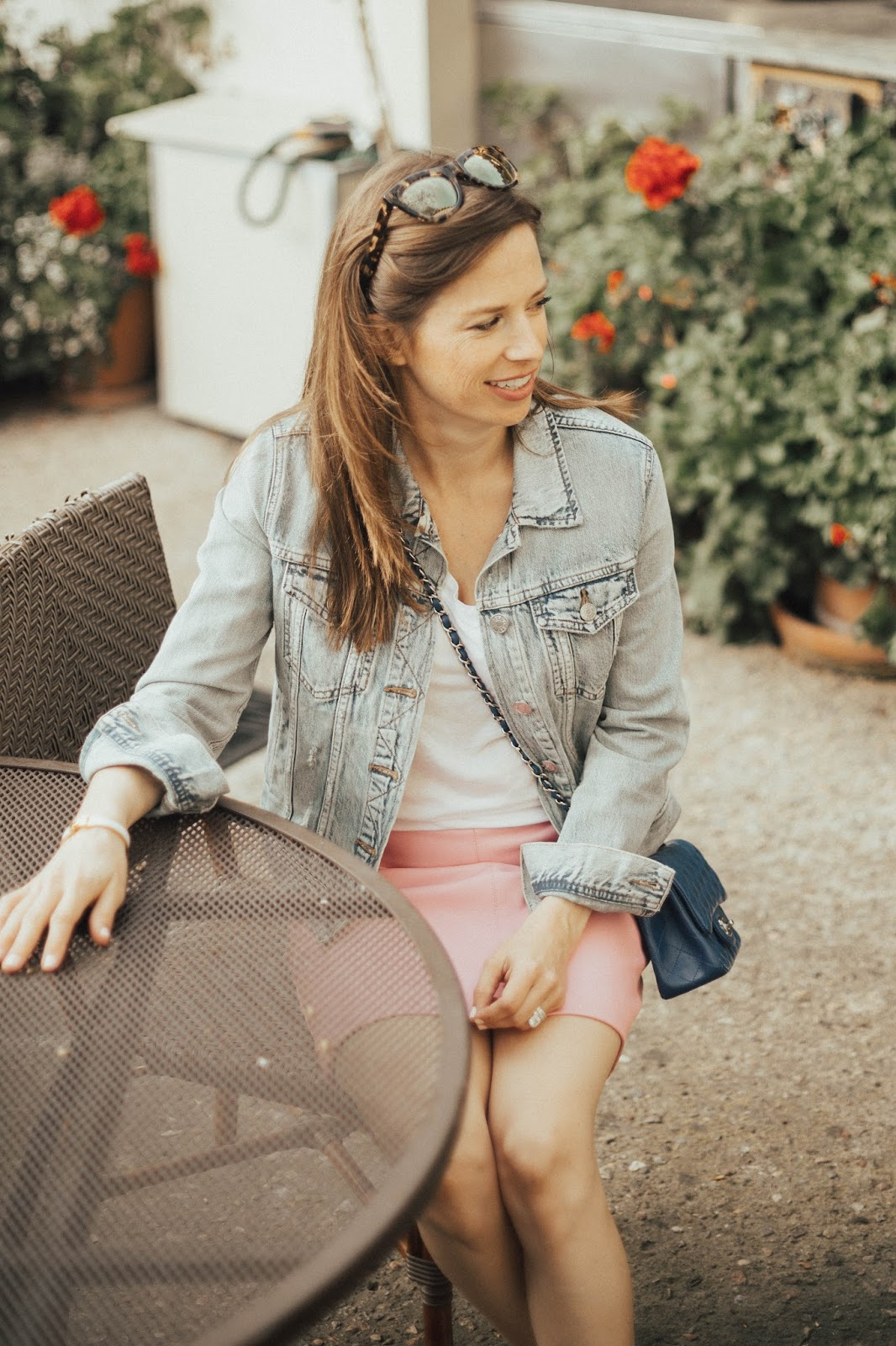 jean jacket blogger outfit