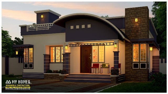Stylish 850 square feet low budget 2 bedroom home for 13 3 for Cost of building a 3 bedroom house