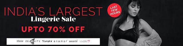 Zivame  Offer : Buy Lingerie at Rs.400