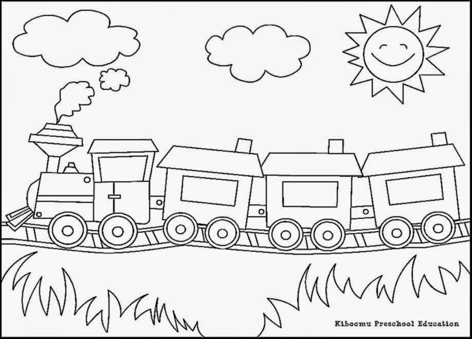 Coloring pictures of trains free coloring pictures for Coloring page of a train