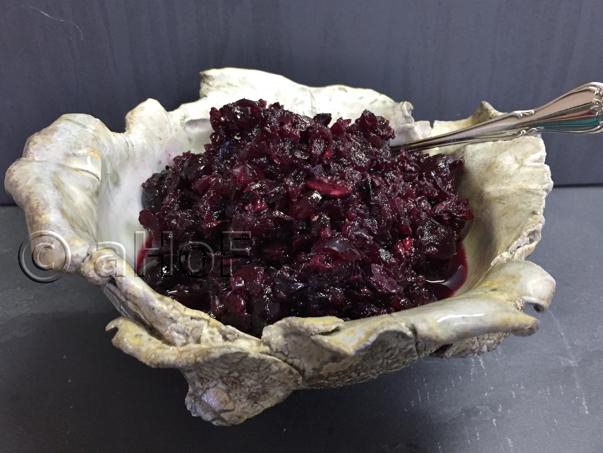 Honey Fermented Cran-Blueberry Relish