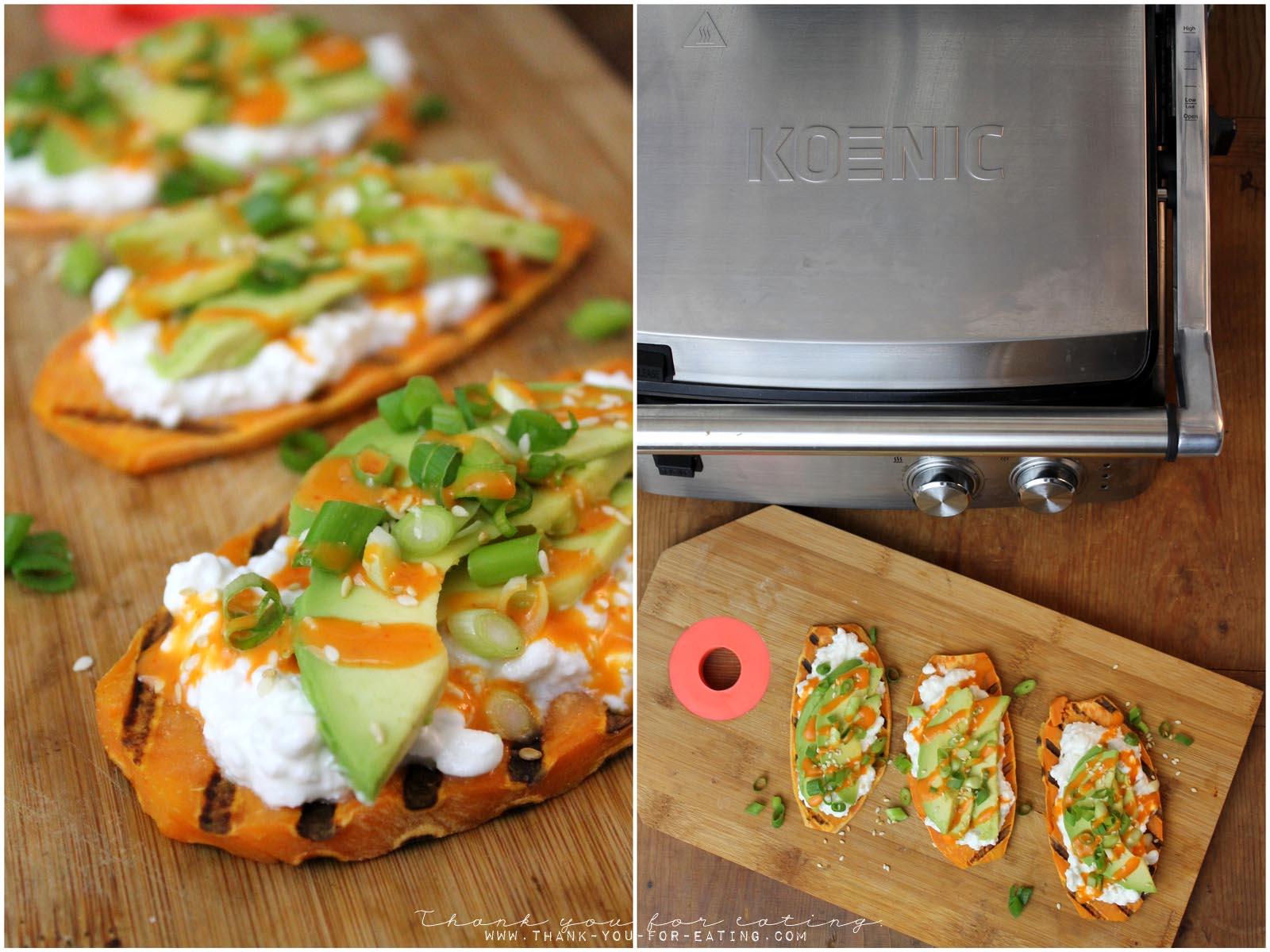 Rezept für Süßkartoffel-Toast mit Avocado