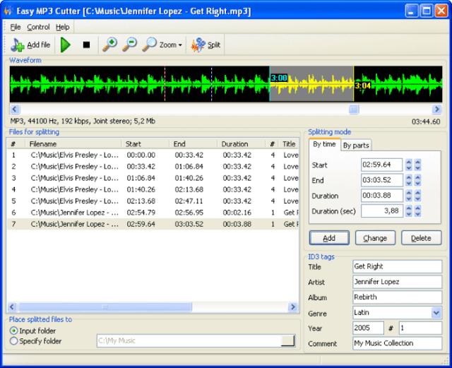 تحميل برنامج تقطيع الأغاني Easy MP3 Cutter للكمبيوتر