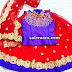 Red and Purple Glitter Kids Lehenga