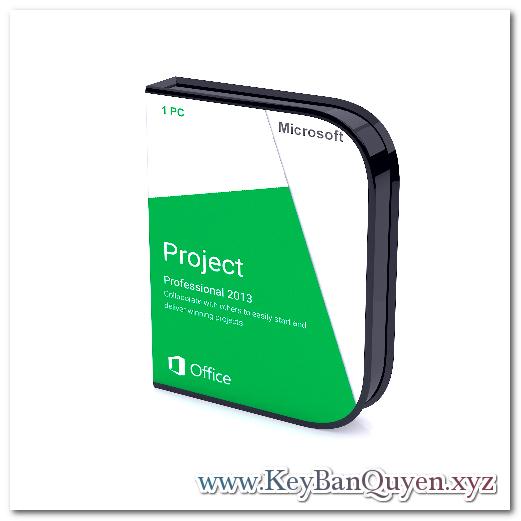 Bán key bản quyền Project Professional 2013 Full 32 và 64 Bit