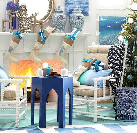 Ocean Blue Christmas Decor