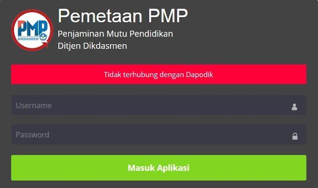 PMP 2108.07 tidak terhubung dengan dapodikdasmen 2019