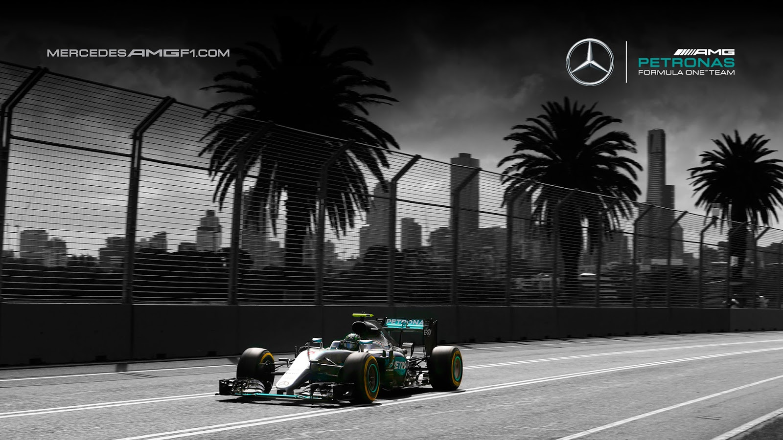 mercedes amg petronas w07 2016 f1 wallpaper kfzoom. Black Bedroom Furniture Sets. Home Design Ideas