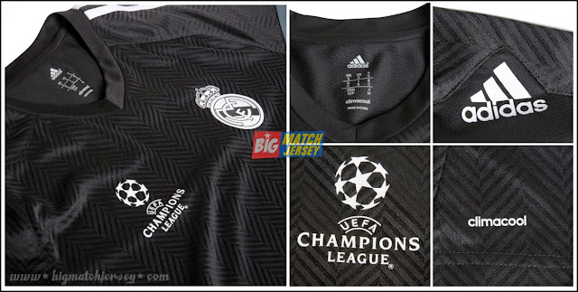2014-15 Real Madrid Adidas UCL Training Jersey Black