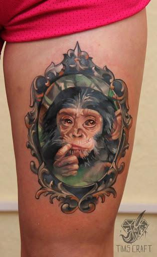 Um pensamento profundo macaco