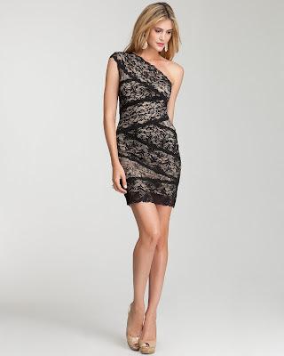 lace short dress in black tan