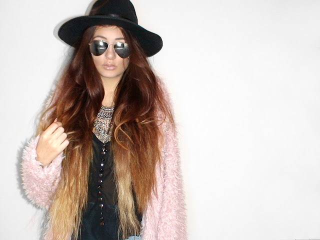 pink fur coat outfit ideas