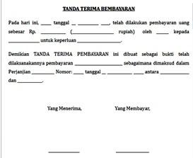 Contoh Tanda Terima Pembayaran Assalam Print