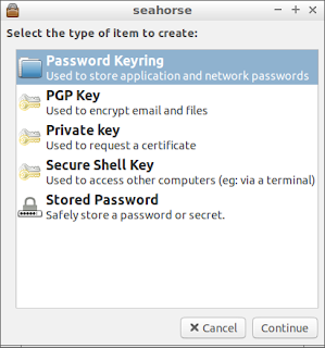 manage passwords and keys with seahorse