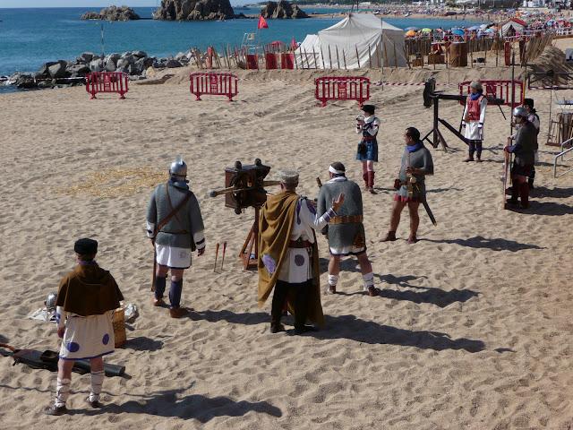 Историческая реконструкция в Бланесе. Римляне готовятся к стрельбам.