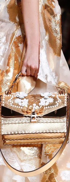 Brilliant Luxury ♦ Fendi Kan I Wonder Monster Shoulder Bag in White-Gold