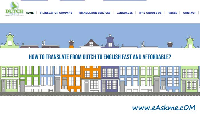 How to Translate from Dutch to English Fast and Affordable?: eAskme