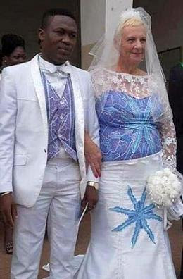 PHOTOS: Young Man Marries a Woman Old Enough To Be His Grand Mother