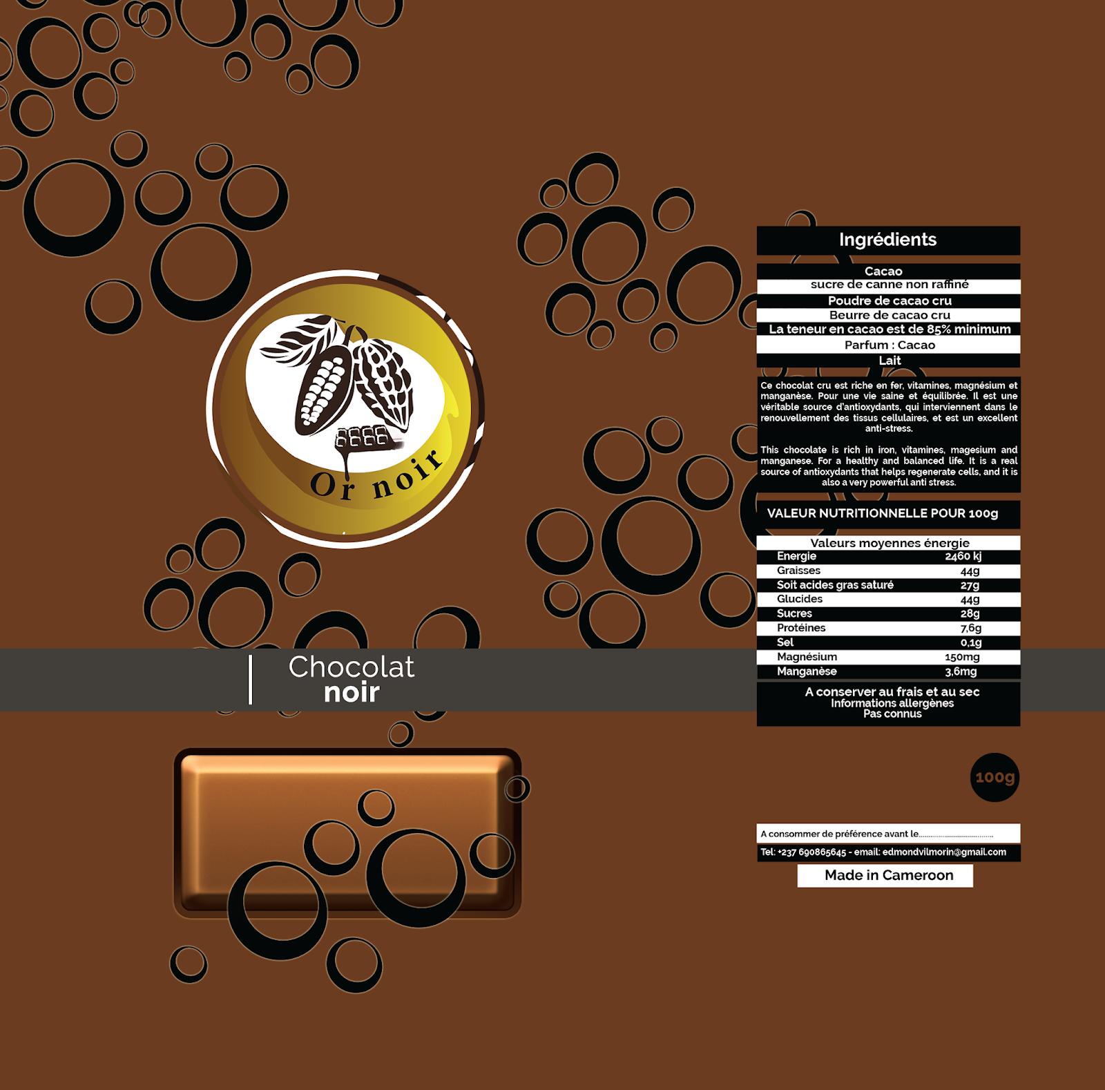 Chocolat noir - Or noir