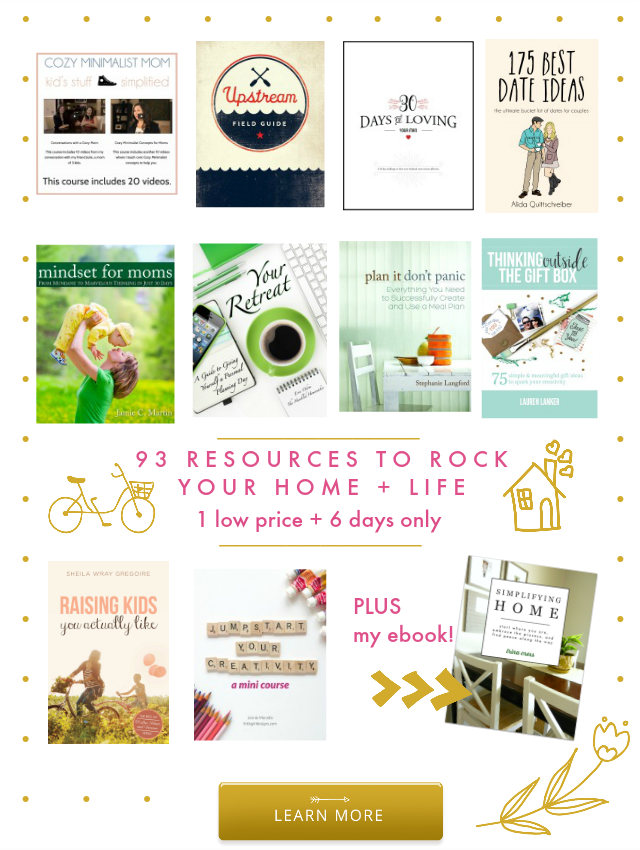 My favorite resources from this year's Ultimate Homemaking Bundle
