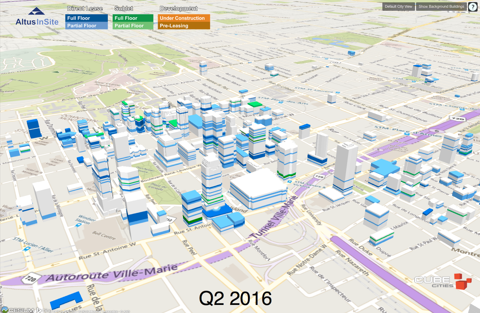 Cube cities blog timelapse of office space availability for Shared office space montreal