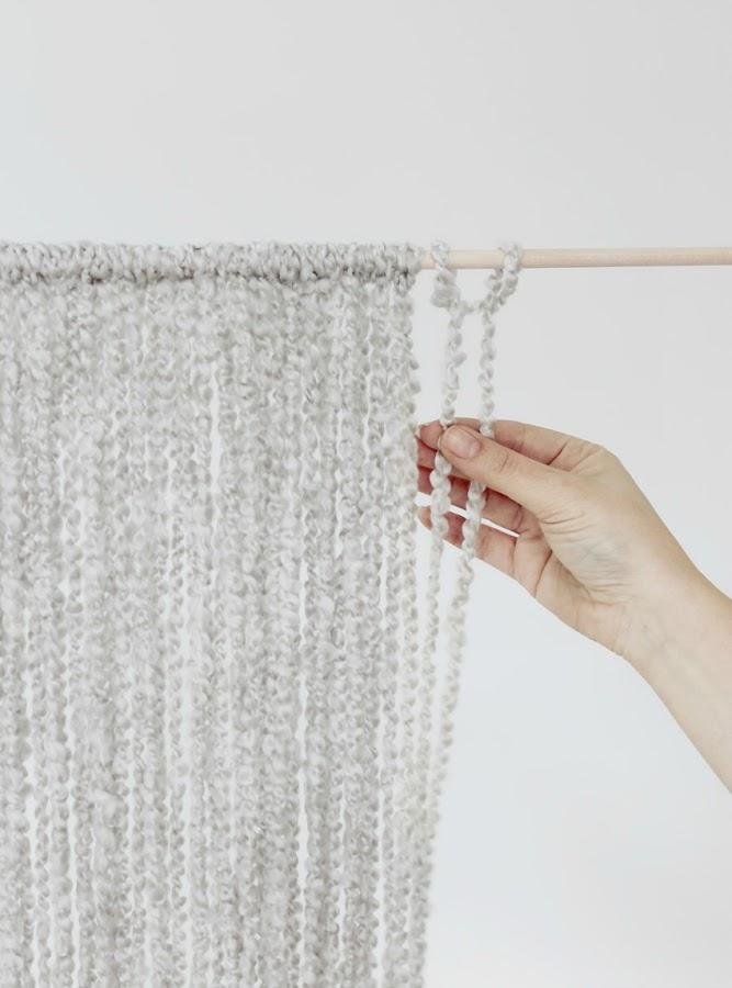 paso a paso diy con lana