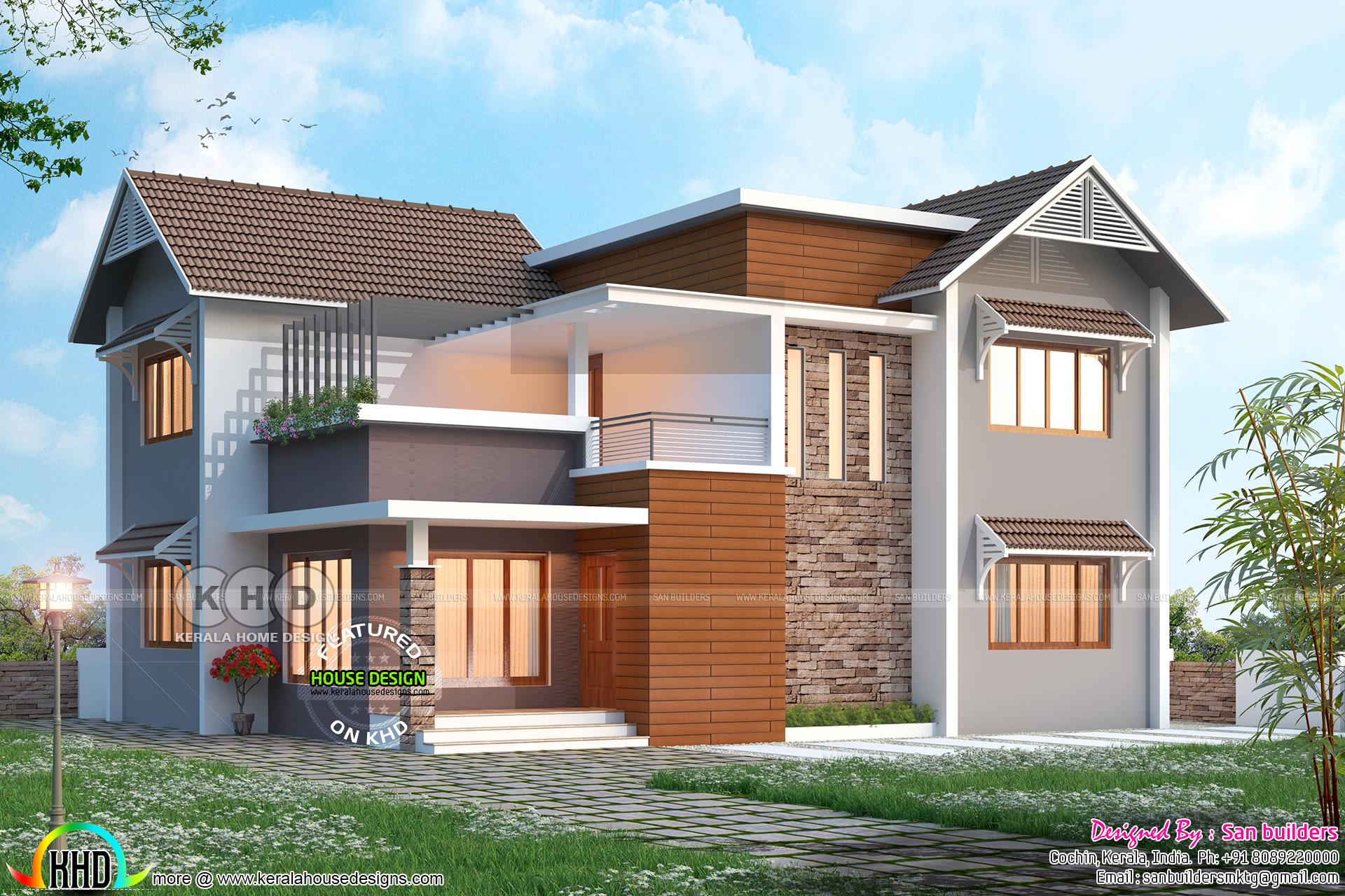 march 2018 house design modern house kerala home