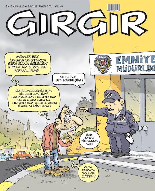 Gırgır Dergisi | 9-15 Kasım 2016 Kapak Karikatürü