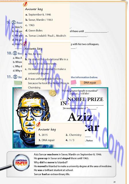 7. Sınıf İngilizce Ders Kitabı Cevapları Pantera Yayınları Sayfa 21