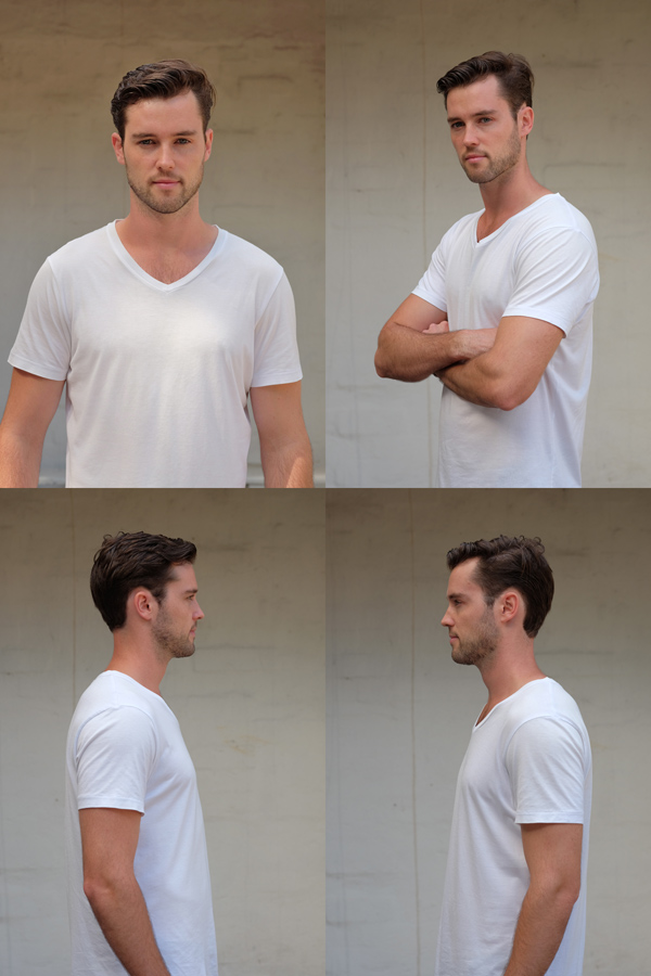 Agency Digitals no editing - Male modelling portfolio by Kent Johnson, Sydney, Australia.