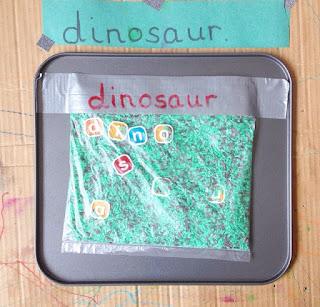 spelling sensory bag