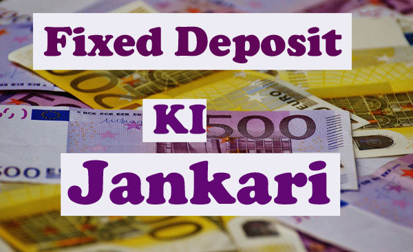 fixed deposit application hindi and english