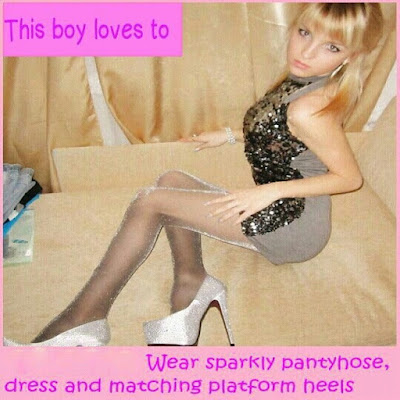 what a sissy boy loves - Sissy TG Caption