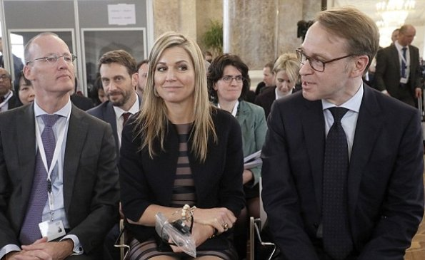 Queen Maxima wore Natan Dress and Jacket, Queen wore Salvatore Ferragamo flat shoes