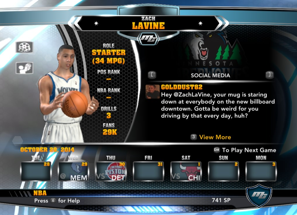 nba 2k14 Zach Lavine mycareer patch download hoopsvilla