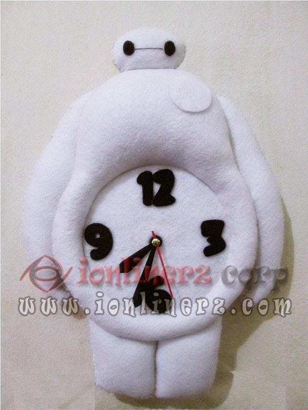 Jam Dinding Flanel Karakter Kartun Boneka Big Hero 6 (Baymax)