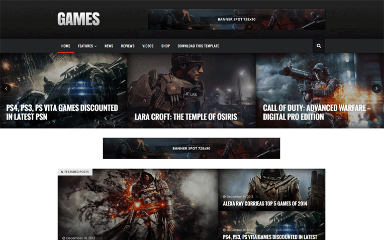 Sora Games Free Blogger Template