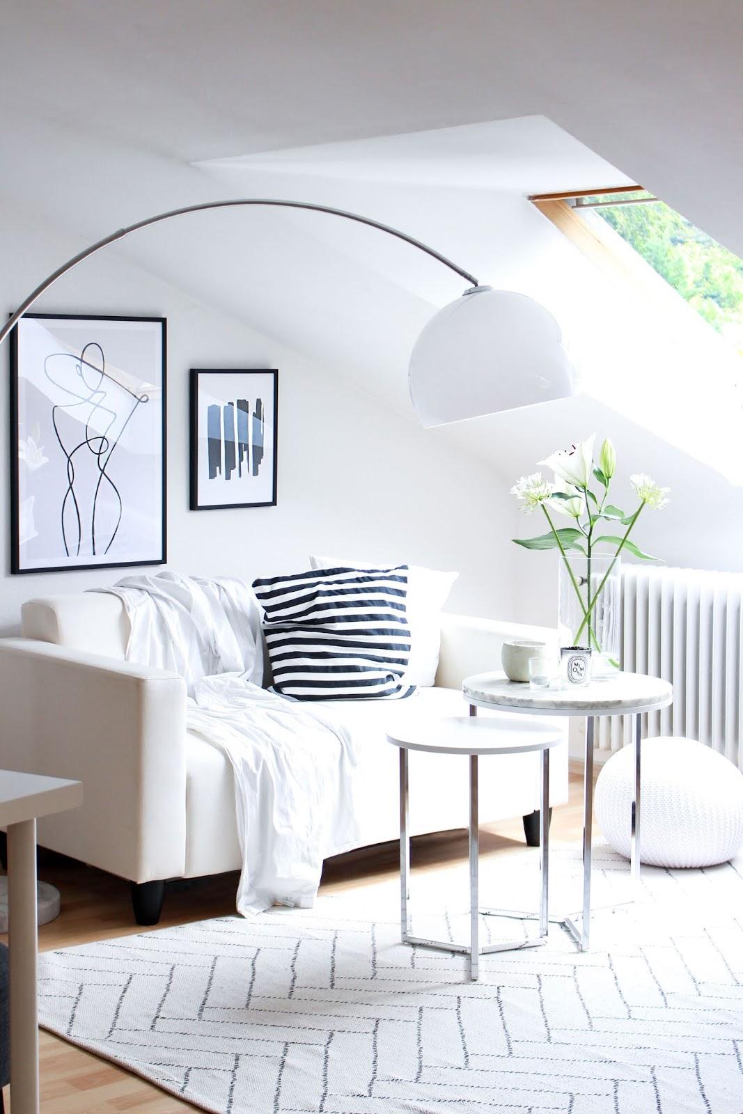 Interior | One-Line-Drawings und schwarz-weiß Prints von Desenio | www.scandiinspiration.com