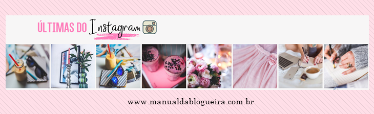INSTAGRAM NO RODAPÉ DO BLOG