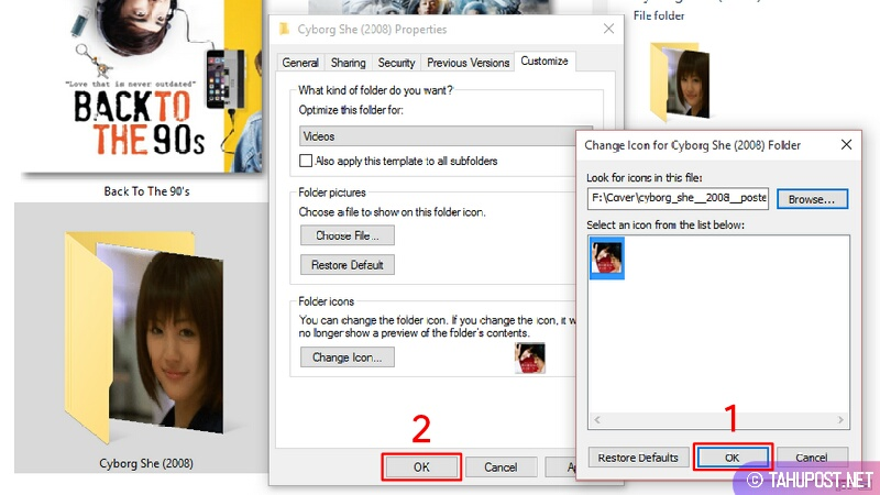 Terapkan Perubahan Icon pada Folder