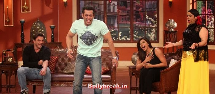 Sohail Khan, Salman Khan, Daisy Shah, Kiku Sharda, Salman Khan & Daisy Shah on Comedy Nights with Kapil