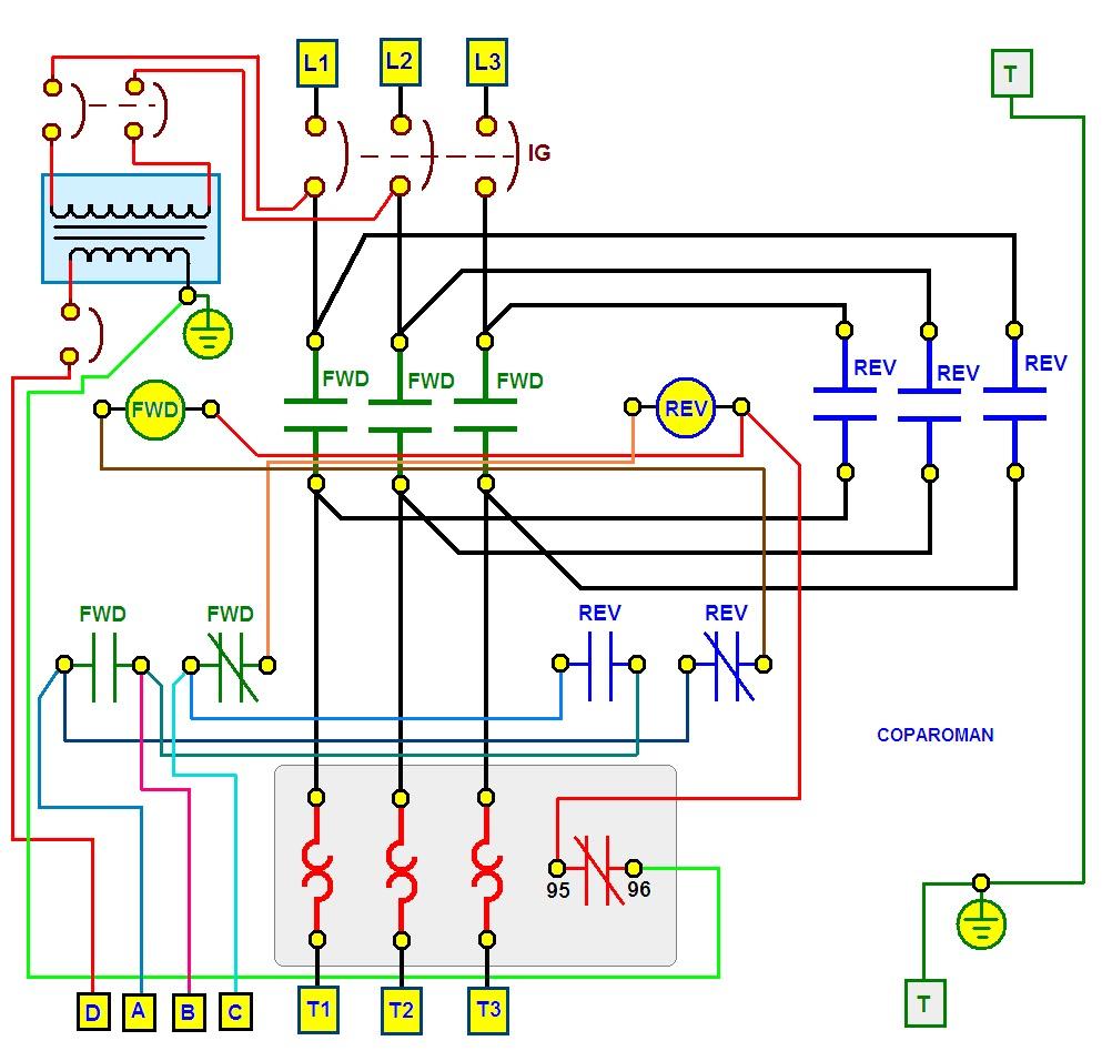 coparoman  diagrama de conexi u00f3n el u00e9ctrica