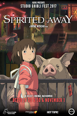 Spirited Away in Theaters October 30 - November 1
