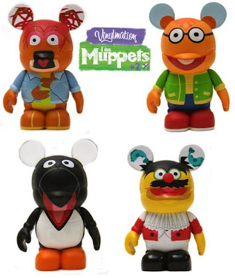 The Muppets Disney Vinylmation Series 2 - Pepe the Prawn, Scooter, Penguin & Lew Zealand 3 Inch Vinyl Figures