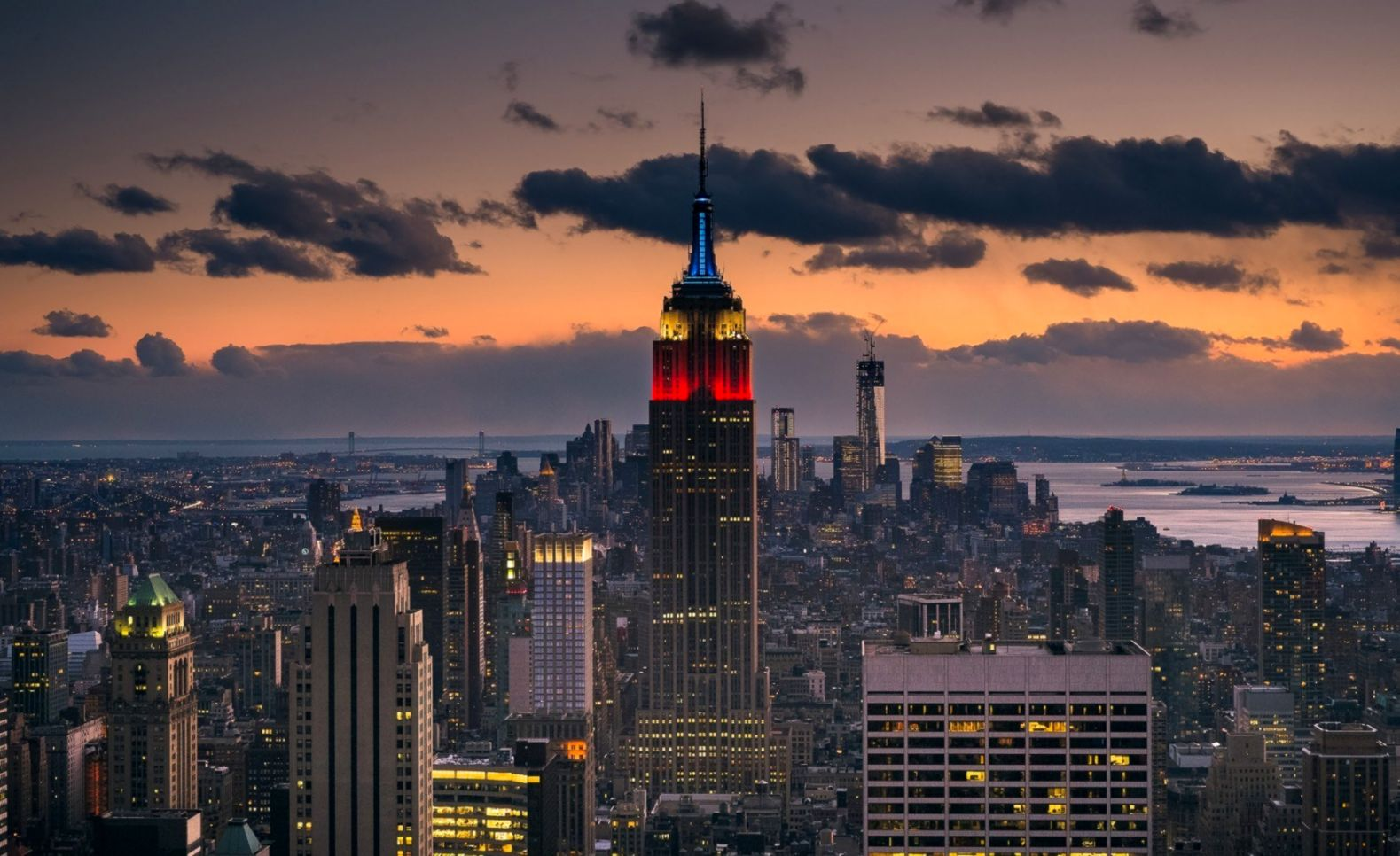 Usa New York City Empire State Building Hd Wallpaper